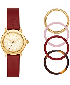 Women's Gigi Scarlet Red Leather Strap Watch 28mm, Created for Macy's