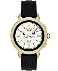 Women's Tory Black Silicone Strap Touchscreen Smart Watch 42mm, Powered by Wear OS by Google™