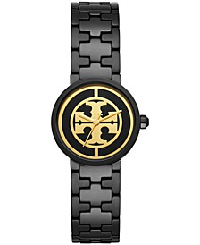 Women's Reva Black-Tone Stainless Steel Bracelet Watch 28mm