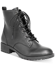 Women's Franie Combat Booties, Created for Macy's