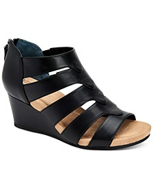 Women's Carmmell Memory-Foam Wedge Sandals, Created for Macy's