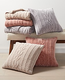 Chenille Decorative Pillow and Throw Collection, Created For Macy's