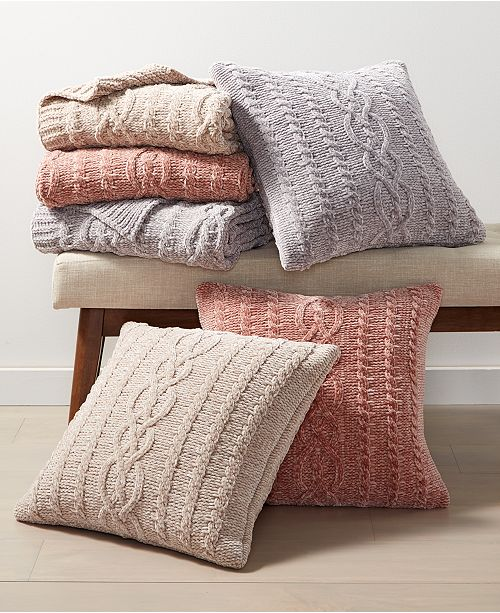 Martha Stewart Collection Chenille Decorative Pillow and Throw