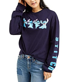 Juniors' Stitch Long-Sleeve T-Shirt