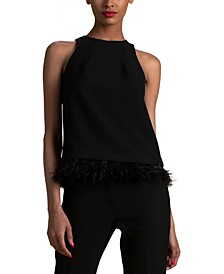 Eero Feather-Trim Top