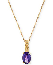 "Amethyst 18"" Pendant Necklace (1-1/5 ct. t.w.) in 14k Gold"