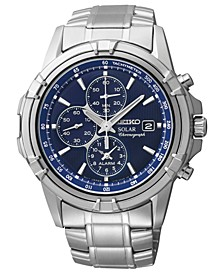 Watch, Men's Chronograph Solar Stainless Steel Bracelet 43mm SSC141