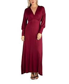 Women's Formal Long Sleeve Maxi Dress