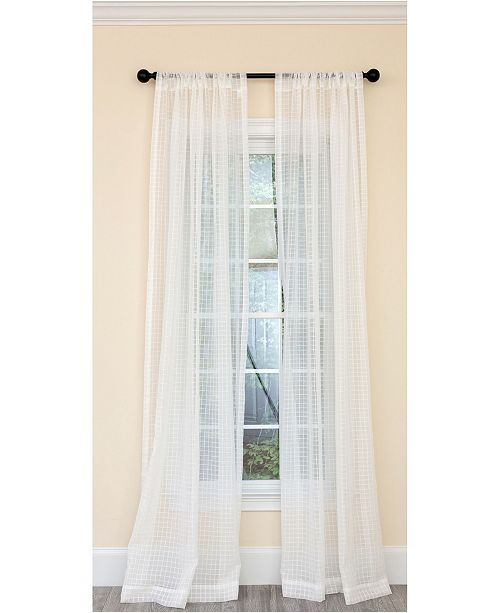Manor Luxe Isa Plaid Sheer Rod Pocket Curtain Collection