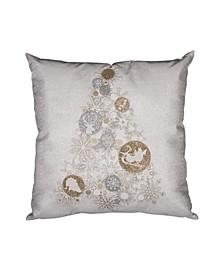 "Ornament Tree Square Christmas Pillow, 18"" x 18"""