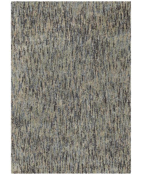 Palmetto Living Next Generation Solid Blue 5.3' x 7.6' Area Rug