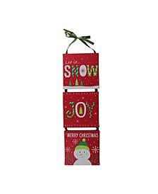 LED Fibre Optic 3-Panel Snowman Christmas Wall Art Decoration