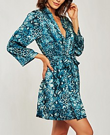 Ultra Soft Print Wrap Robe, Online Only