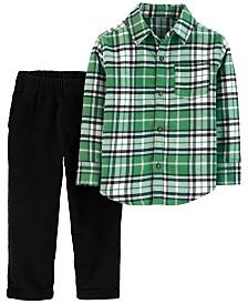Carter's Toddler Boys 2-Pc. Cotton Plaid Shirt & Corduroy Pants Set