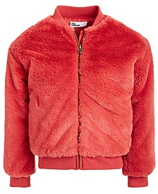 Little Girls Faux-Fur Bomber Jacket, Created For Macy's