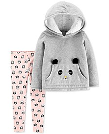 Toddler Girls 2-Pc. Panda Hoodie & Printed Leggings Set
