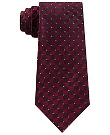 Men's Slim Checker Tie