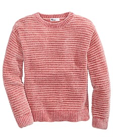 Big Girls Metallic-Stripe Chenille Sweater, Created For Macy's