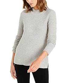 Mock-Neck Boucle Sweater, Created For Macy's