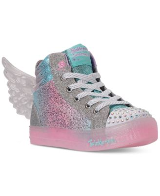 girls skechers high tops