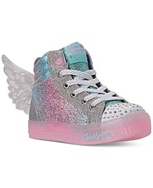 Little Girls Shuffle Brights Glimmer Wings Light-Up High Top Casual Sneakers from Finish Line