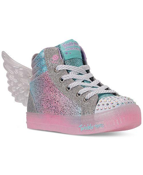 Skechers Little Girls Shuffle Brights Glimmer Wings Light Up