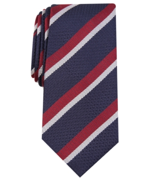 1920s Bow Ties | Gatsby Tie,  Art Deco Tie Tasso Elba Mens Stripe Silk Tie Created for Macys $24.99 AT vintagedancer.com