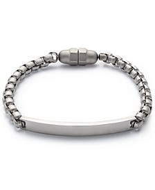 Men's Silver-Tone Plaque Bracelet