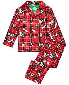 Baby Boys 2-Pc. Mickey Mouse Holiday Pajamas Set