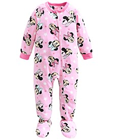 Toddler Girls 1-Pc. Fleece Minnie Mouse Footie Pajamas