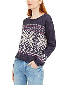 Juniors' Fair Isle Sweater