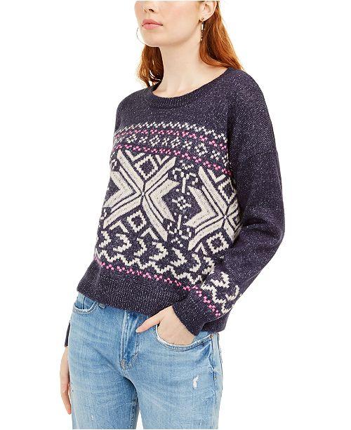 Hippie Rose Juniors' Fair Isle Sweater