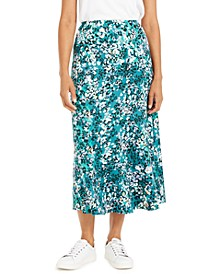 Petite Printed Diagonal-Tier Skirt