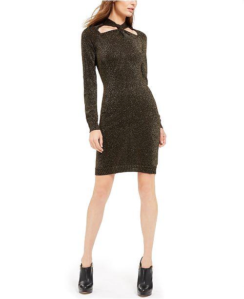 Michael Kors Twist-Neck Sweater Dress