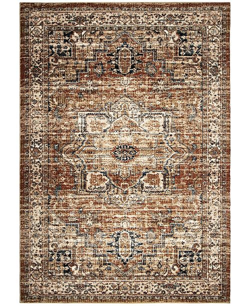 "Palmetto Living ORI400663 Aria Heriz Medallion Rust 7'8"" x 10'10"" Area Rug"