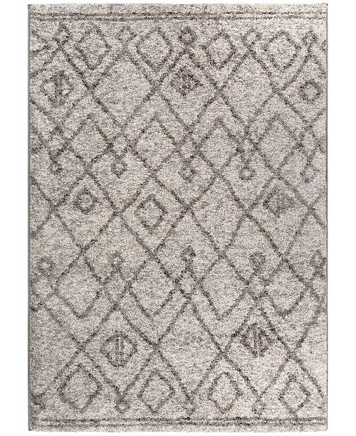 "Palmetto Living Casablanca Tribal 06 Silver Tone 5'3"" x 7'6"" Area Rug"