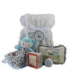Snuggle Owl Baby Blanket Gift Set, 6 Piece