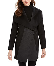 Colorblocked Wrap Coat