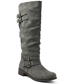 XOXO Mayson Wide Calf Tall Boots
