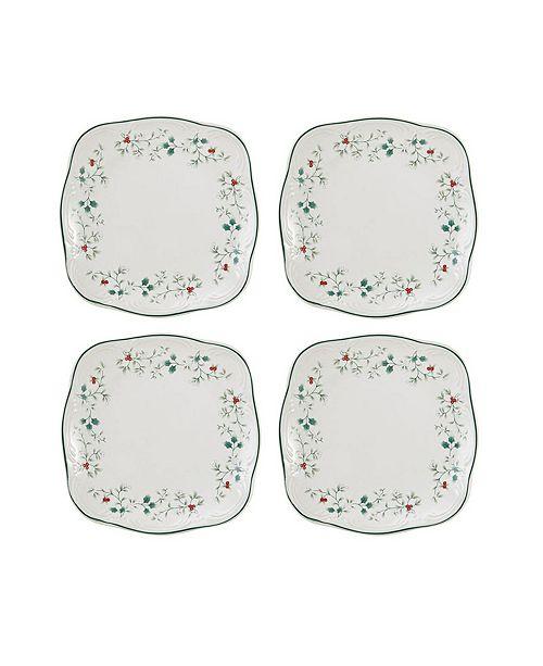 Pfaltzgraff Winterberry Square Salad Plate, Set of 4