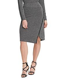 Asymmetrical-Zipper Skirt