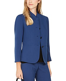 Band-Collar Blazer