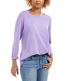 Long-Sleeve Crewneck Top, Created for Macy's