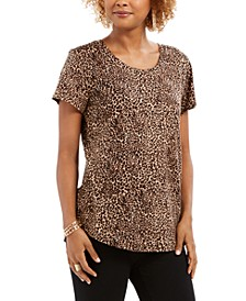 Leopard-Print Cotton T-Shirt, Created For Macy's