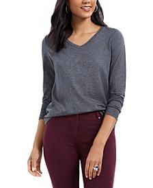 V-Neck Long-Sleeve Shirt, Created For Macy's