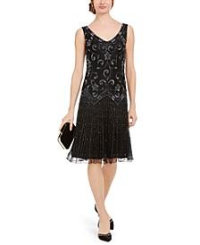 Beaded Drop-Waist Flapper Dress
