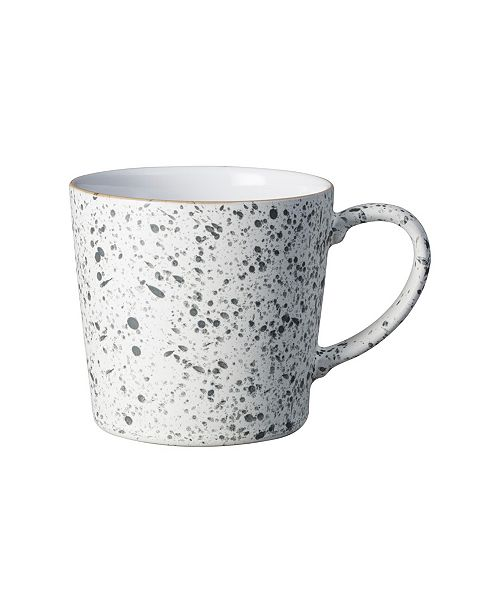 Denby White Speckle Large Mug
