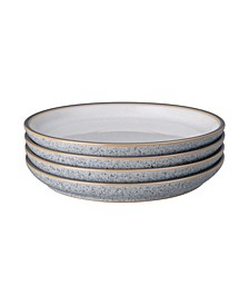Studio Craft Grey/White 4 Piece Medium Coupe Plate Set