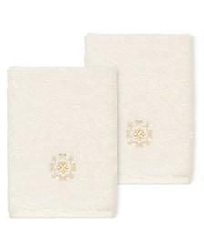 100% Turkish Cotton Alyssa 2-Pc. Embellished Washcloth Set