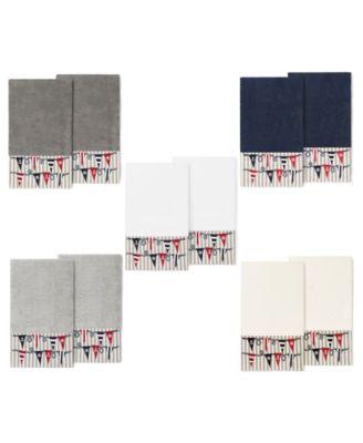 100% Turkish Cotton Ethan 2-Pc. Embellished Bath Towel Set